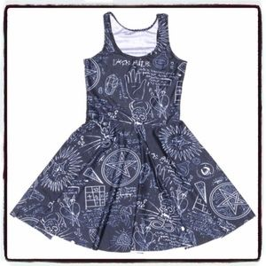 Hexagram Occult Skater Dress Gothic Halloween